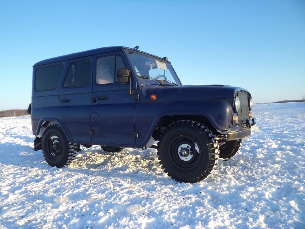 УАЗ по снегу