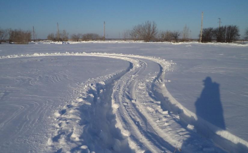 След в снегу