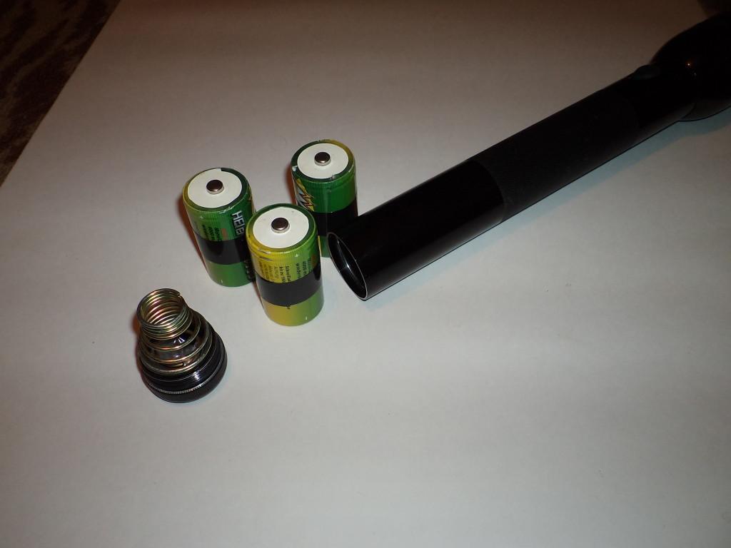 Батарейки на Maglite