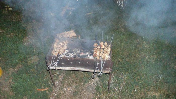 Самодельные шампура и мангал для шашлыка