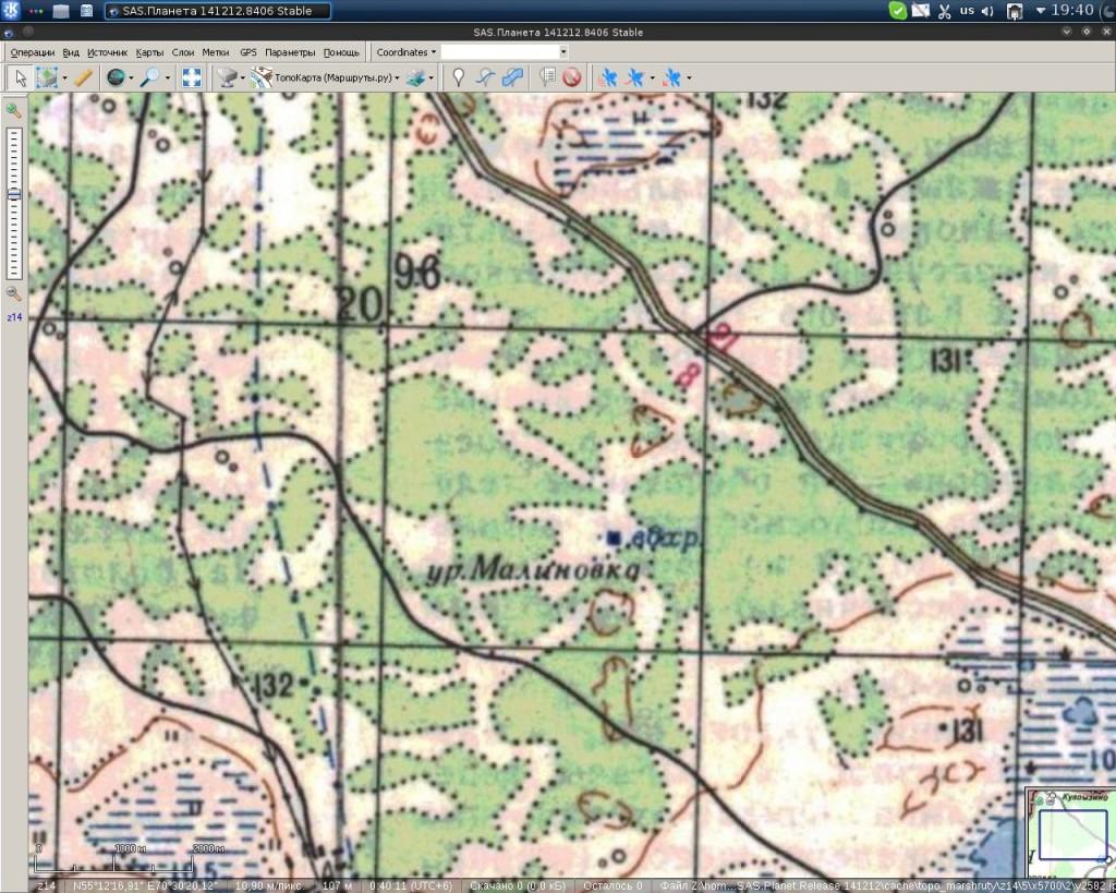 Урочище и водоем на карте Генштаба