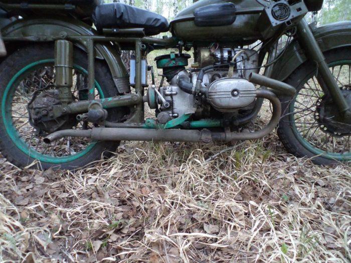 Самодельный глушитель на мотоцикл Урал
