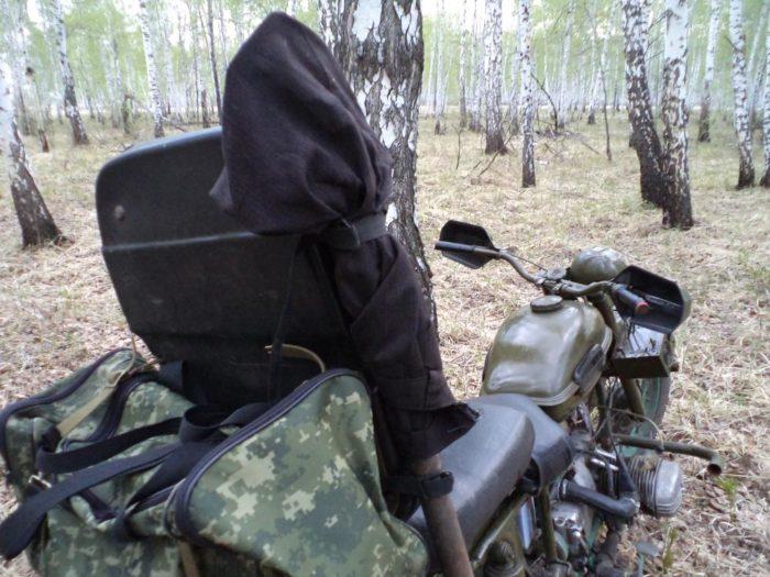 Крепление багажа к мотоциклу