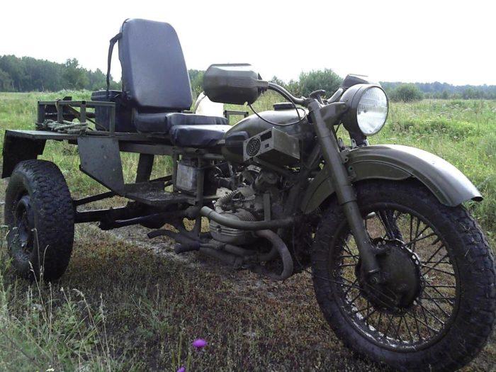 АИ-168У на трицикле
