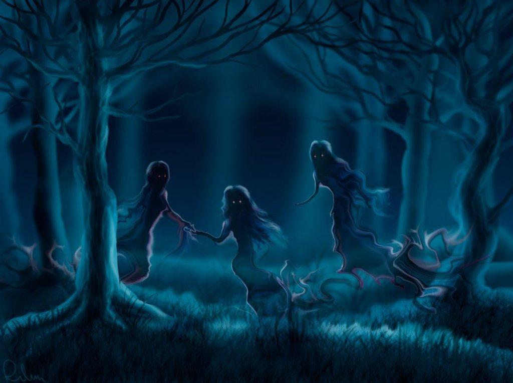 Духи в лесу
