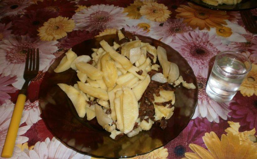 Картошка в микроволновке с грибами