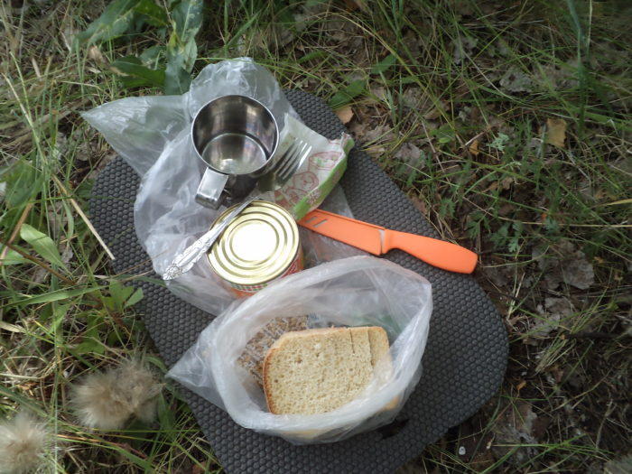 Легкий обед в лесу