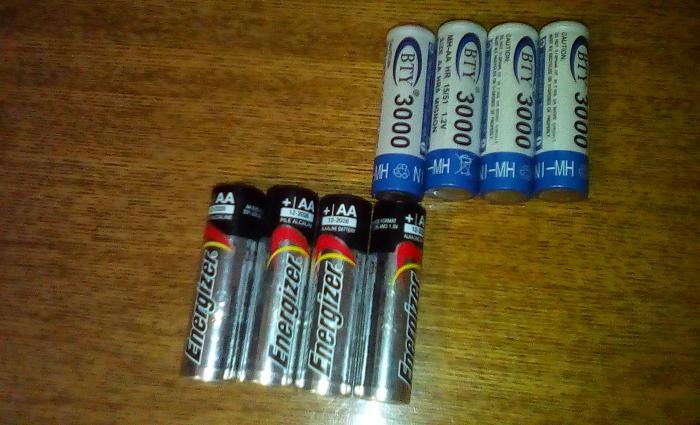 Батарейки или аккумуляторы