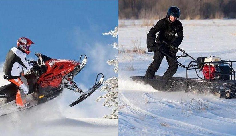 Снегоход или мотобуксировщик