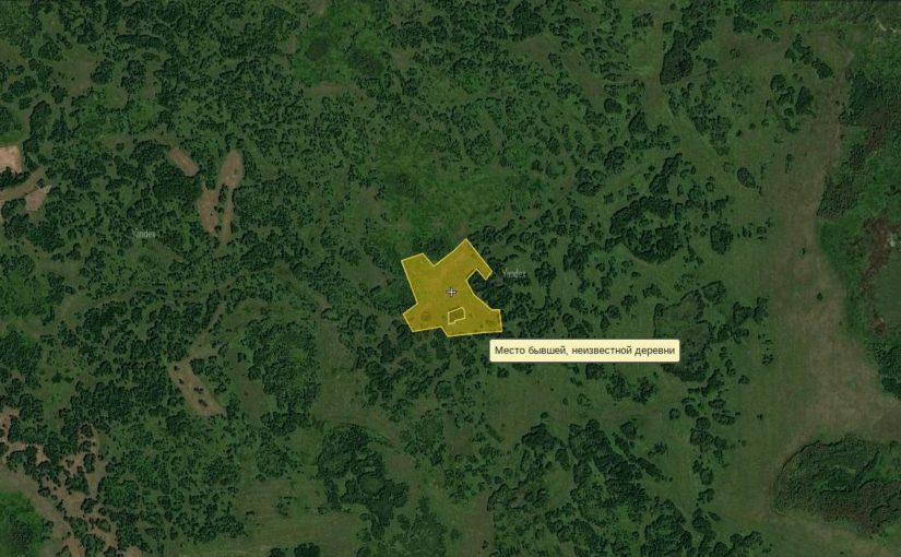 Карта заброшенных деревень