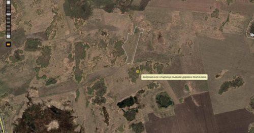 Заброшенное кладбище на карте