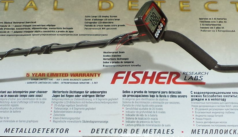 Металлоискатель Fisher F44: первые впечатления